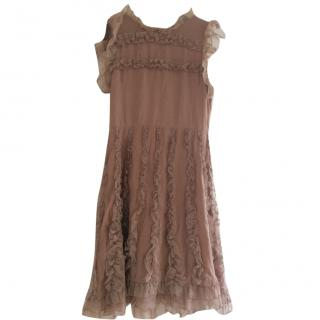 Red Valentino nude silk dress