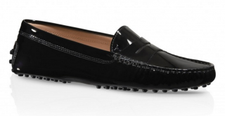 Tod's Black Patent Driving Shoes