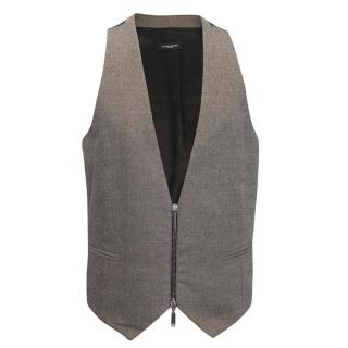 Costume National Zip Up Waistcoat