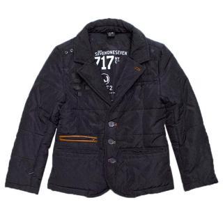 Boys navy puffer jacket