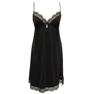 Calvin Klein Black Underdress With Lace Detail