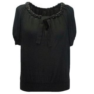 Gilmar black embellished top