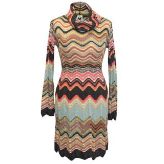 M Missoni Knit Turtle Neck Dress