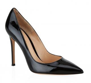 Gianvito Rossi Bari Black Patent Heels