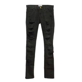 Current Elliot black ripped jeans