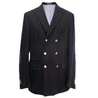 Michael Bastian Navy blue blazer with gold buttons