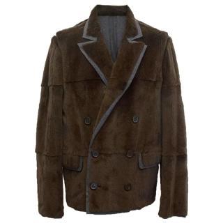 Lanvin brown fur jacket