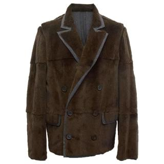 Lanvin brown fur jacket