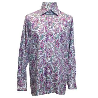 Richard James Silk Paisley Patterned Shirt