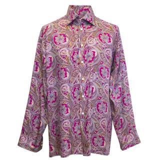 Richard James Men's purple pattern shirt