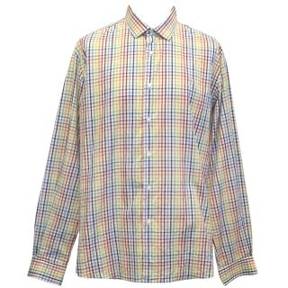 Etro men's checked multicolour shirt