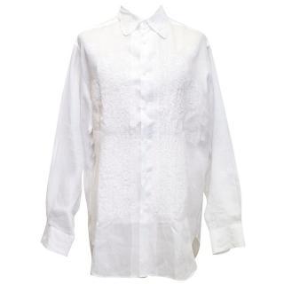 Yohji Yamamoto white oversize linen shirt