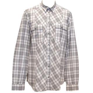 Dolce & Gabbana grey and white checked shirt