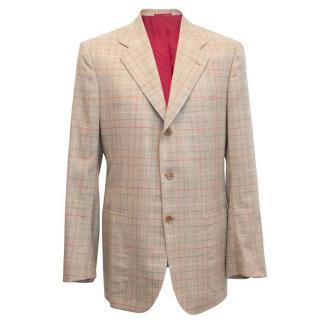 Kiton Cashmere Checked Blazer