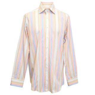 Etro pale striped shirt