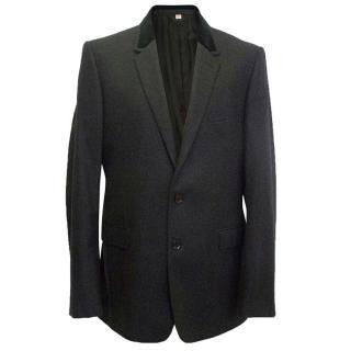 Burberry men's black blazer jacket