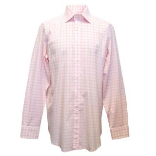 Etro pink and white checked shirt