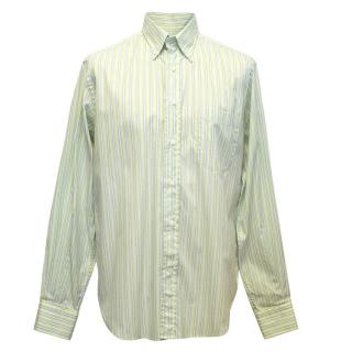 Loro Piana green striped shirt