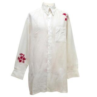 Yojhi Yamamoto white linen shirt