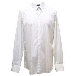 Dolce & Gabbana white shirt with sheer stripes
