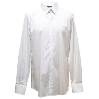 Dolce & Gabbana white shirt with sheer stripes