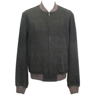 Dolce & Gabbana grey checked bomber jacket