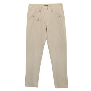 Dolce & Gabbana  beige cotton trousers