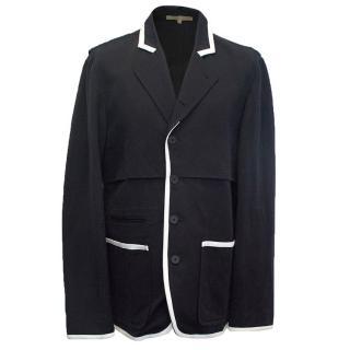 Bottega Veneta Navy blazer with white border