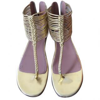 Gold Alaia sandals 37.5