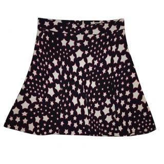 Saint Laurent silk skirt with stars, hedi Slimane's design