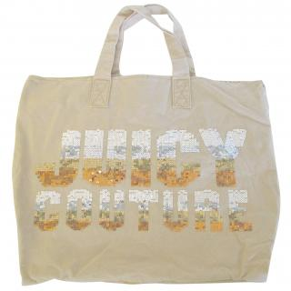 Juicy Couture sequins cotton large tote