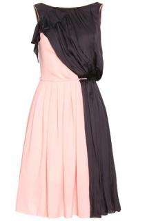 New NINA RICCI Bi-Colour Pleated Dress