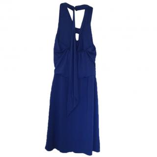 Liu Jo Royal Blue Halter Neck Dress