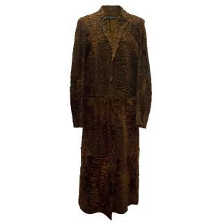 Dolce & Gabbana men's long brown fur coat