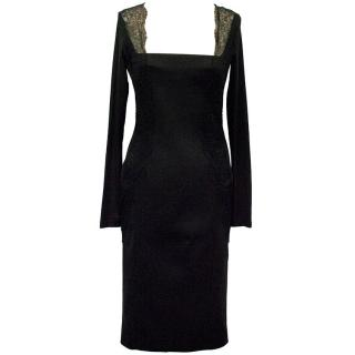 Donna Karan  black lace dress