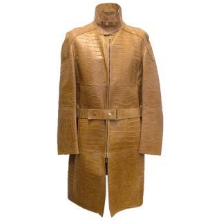 Gucci tan crocodile coat