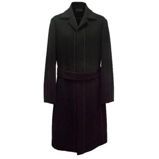 Narciso Rodriguez Black Cashmere Trench Coat