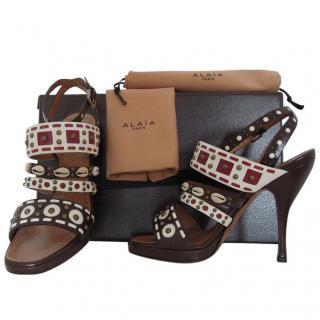 Alaia brown sandals