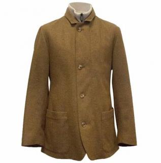 Loro Piana Brown and Cream Cashmere Jacket with Gilet