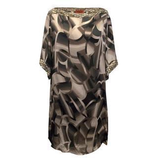 Missoni brown pattern silk top