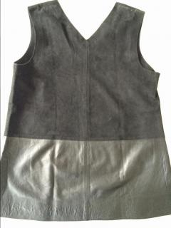 Vince leather and suede top