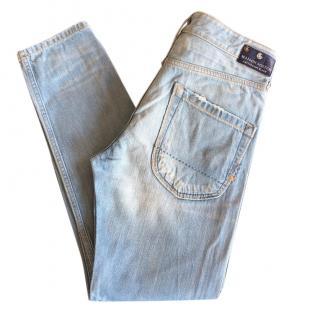 Maison Scotch loose tapered leg Naoyo light blue jeans