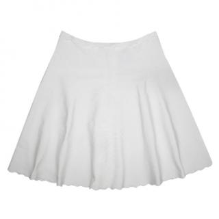 Herve Leger Off White Alabaster Fay Scalloped Faye Skirt