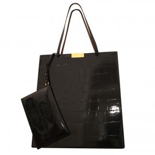 Stella McCartney Beckett faux python tote
