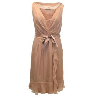 Alberta Ferreti dusty pink silk dress