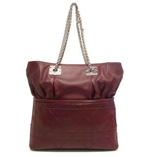 Dior burgundy tote bag