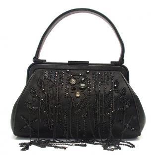 Ferre black small beaded handbag