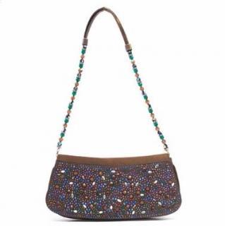 Gina Small Beaded Brown Bag