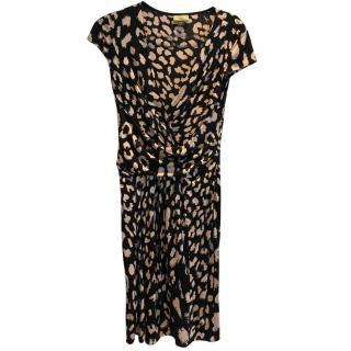 Black and light pink leopard print Issa dress