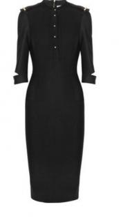 Victoria Beckham military black dress size